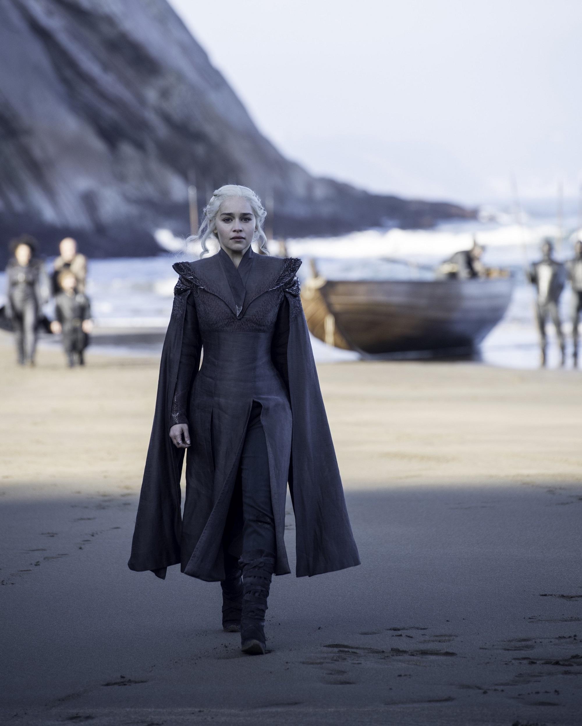 Daenerys on Dragonstone