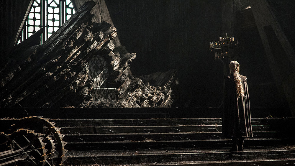 The new Dragonstone throne room set in season 7
