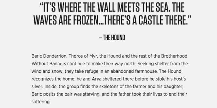Game of Thrones 701 Synopsis