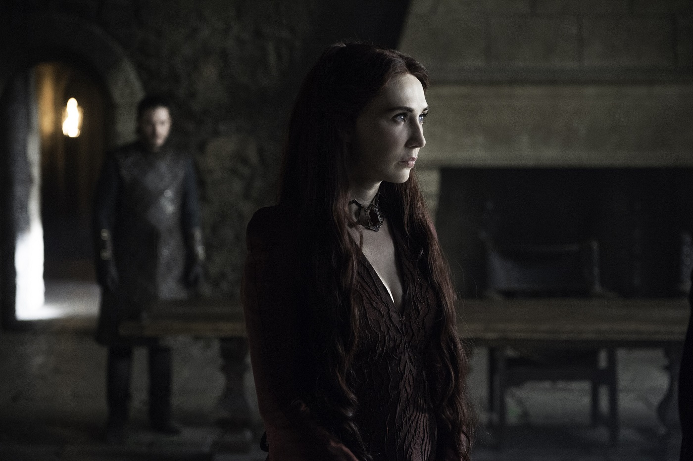 Melisandre at Winterfell Game of Thrones