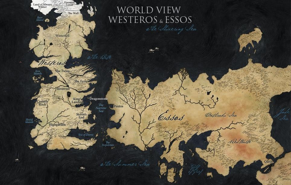 Westeros Essos map