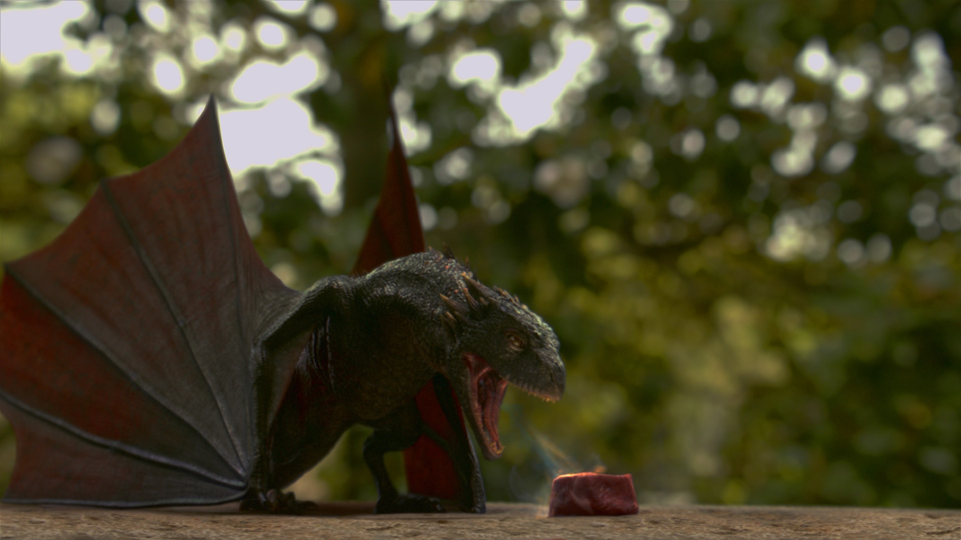 "Little Drogon tries to breath fire in ""The Ghost of Harrenhal"""