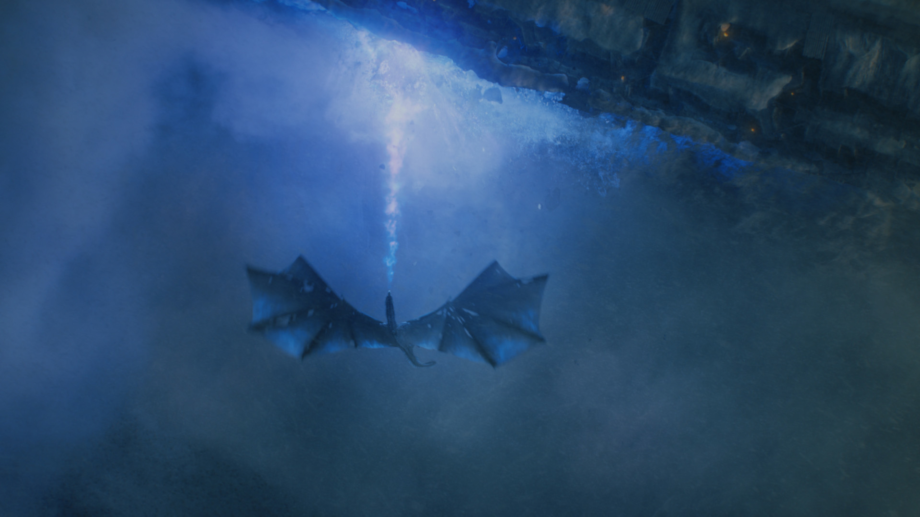 """Viserion and the Night King bringing down the Wall at Eastwatch is just one of many spectacular visual effects created for """"Game Of Thrones"""" throughout its seven seasons."""