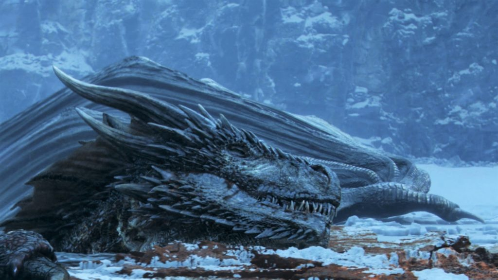 706 - Beyond the Wall - Frozen Lake - Viserion 2