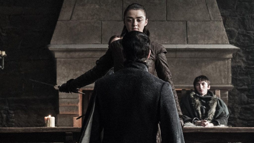 707 - Winterfell - Littlefinger, Arya, Bran, Wolkan 1