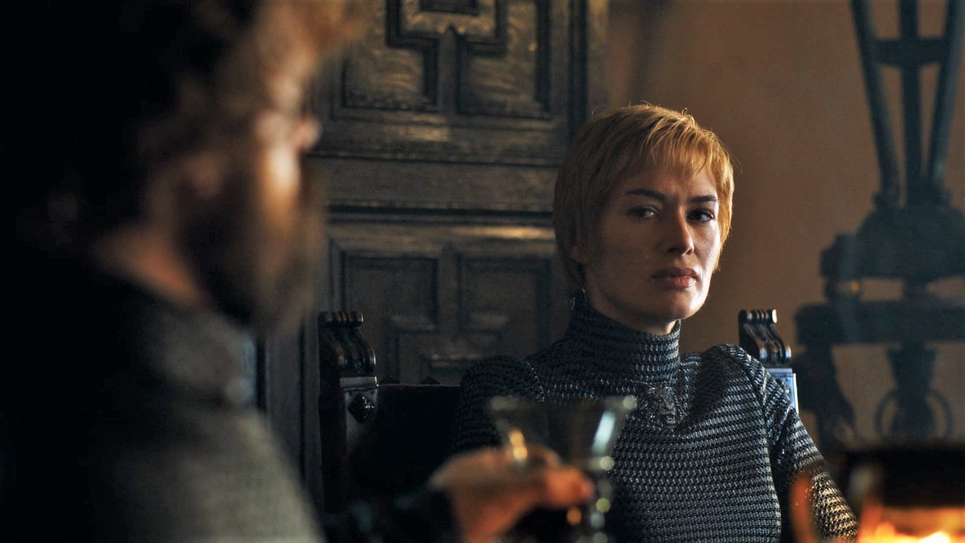 Cersei's armored black dress is discussed in detail by costumer designer Michele Clapton in one of the many interviews we round up below.