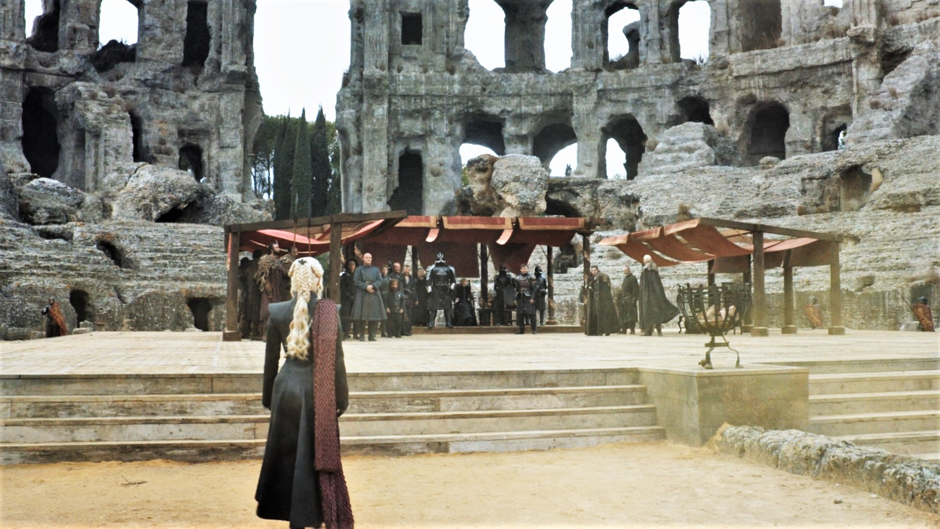 "The once formidable Dragonpit in King's Landing served as the meeting place between Cersei, Daenerys, Jon Snow, and many others in the Season 7 finale of ""Game of Thrones."""