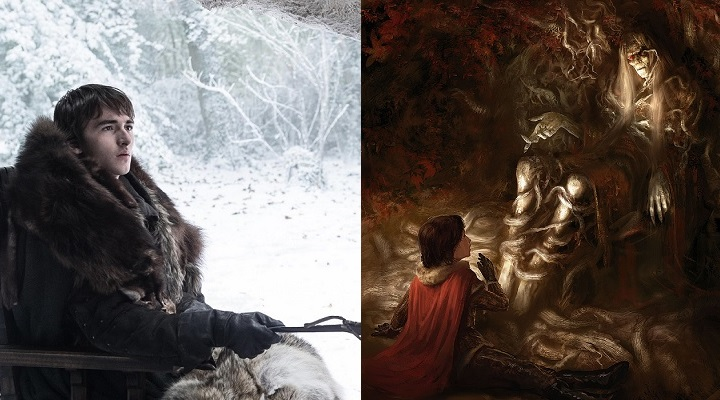 Bran in the form of Isaac Hempstead Wright on Game of Thrones , and as he appears in the 2013 ASOIAF calendar