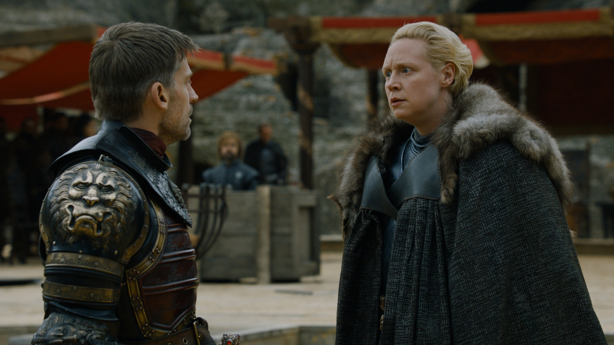 Brienne and Jaime Dragonpit