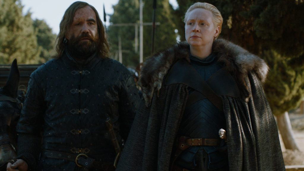 Brienne and the Hound Dragonpit