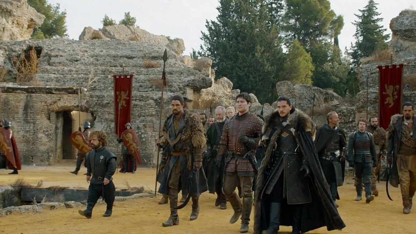 Jon Snow and allies Game of Thrones