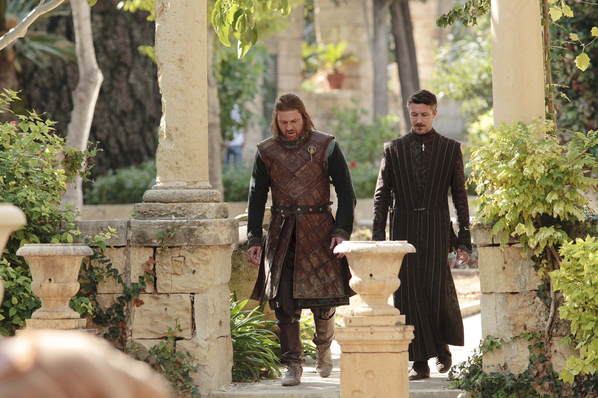 Ned and Littlefinger Walking Together