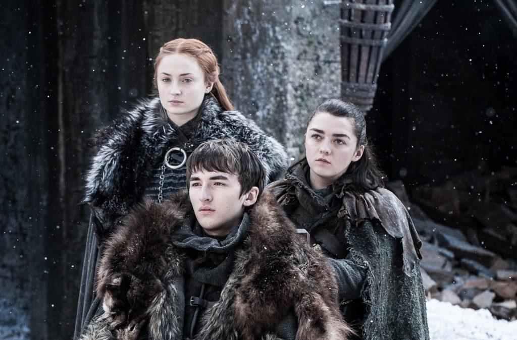 Sansa Arya and Bran reunited The Spoils of War