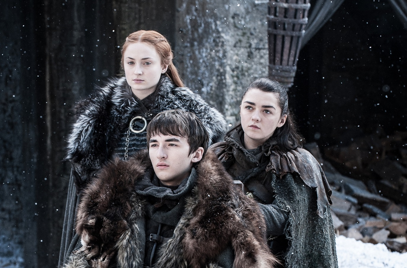 Sansa Arya and Bran reunited The Spoils of War