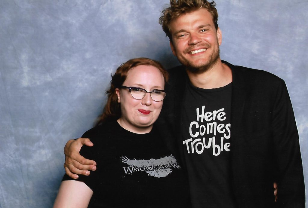 Pilou Asbaek and Paige. Photo by the author.