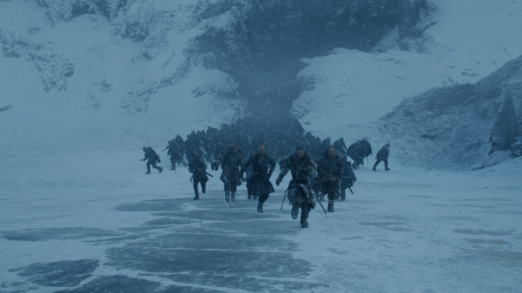 Seven running Beyond the Wall