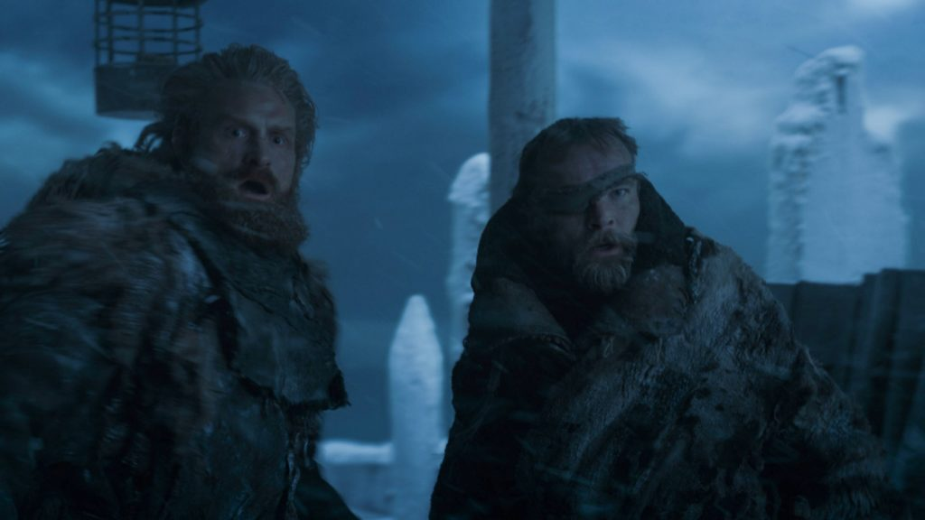Tormund Beric on the Wall episode 707