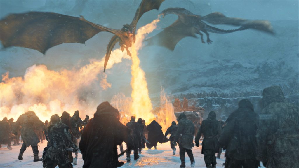 Wall - Beyond Frozen Lake 7x06 Dragons Drogon Viserion Rhaegal Wights