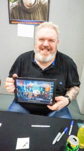 Kristian Nairn with artwork by @WightsKing
