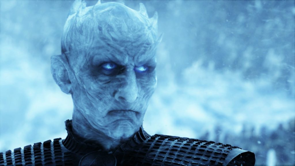 "The Night King, played by Vladimir Furdik, in season seven's ""Beyond the Wall"""