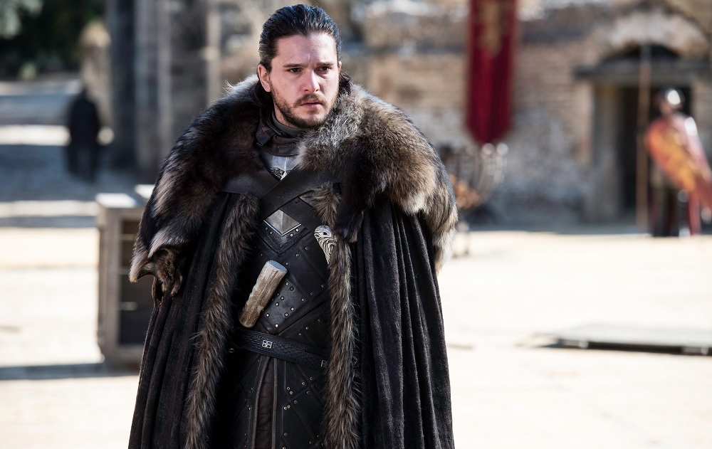"Jon Snow hosts a parley at the Dragonpit in ""The Dragon and the Wolf"""