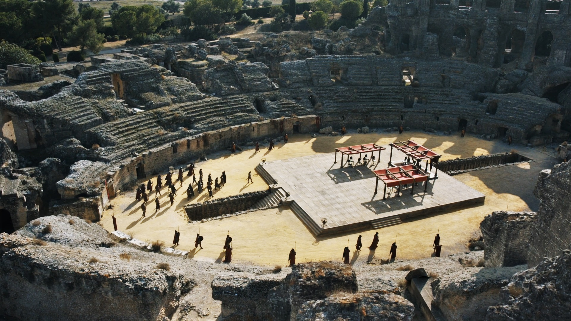 The podium or dais was the focus of the Dragonpit scene in season seven