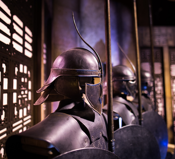A line of Unsullied costumes is only one of many features of 'Game of Thrones: The Touring Exhibition,' which makes its global debut on October 28 in Barcelona.
