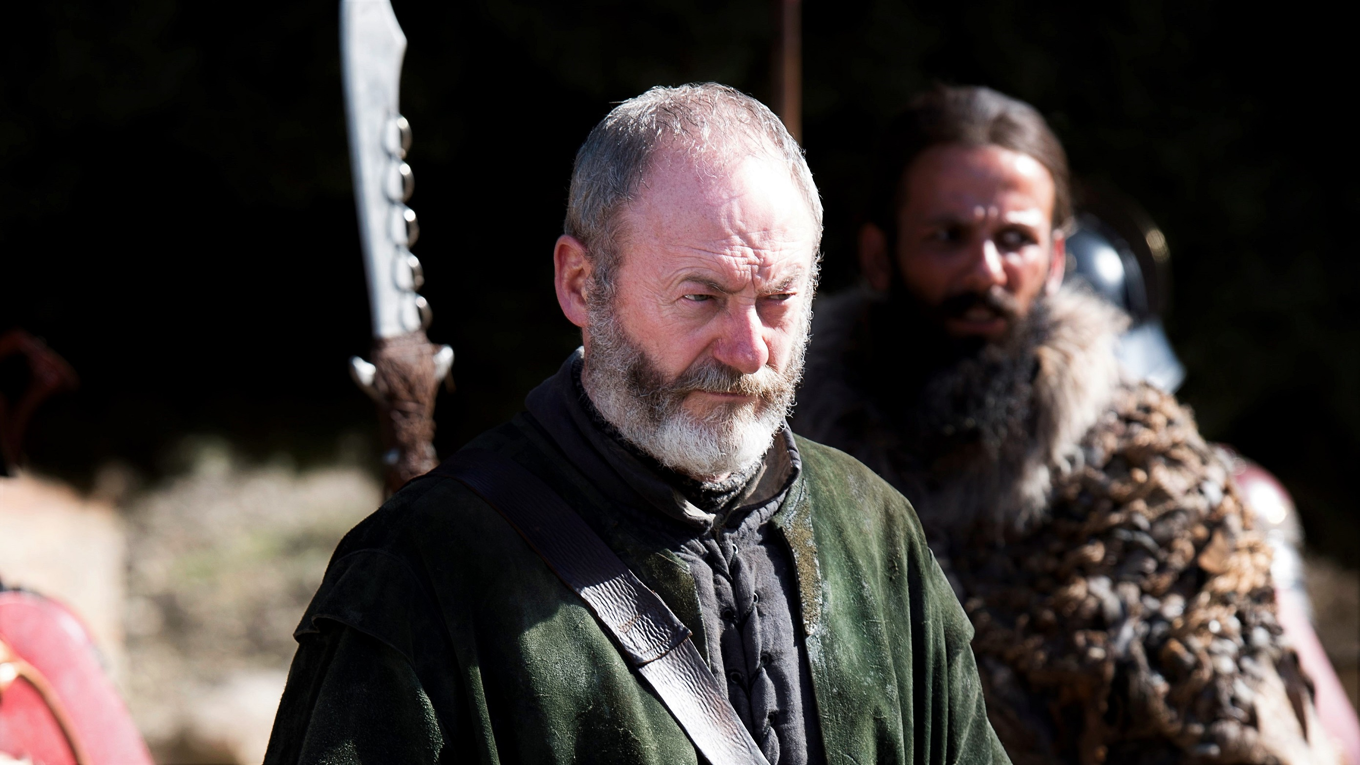 Liam Cunningham as Davos Seaworth in Season 7.