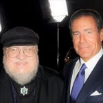 HBO CEO Richard Plepler with George R. R. Martin at the Game of Thrones Season 3 premiere