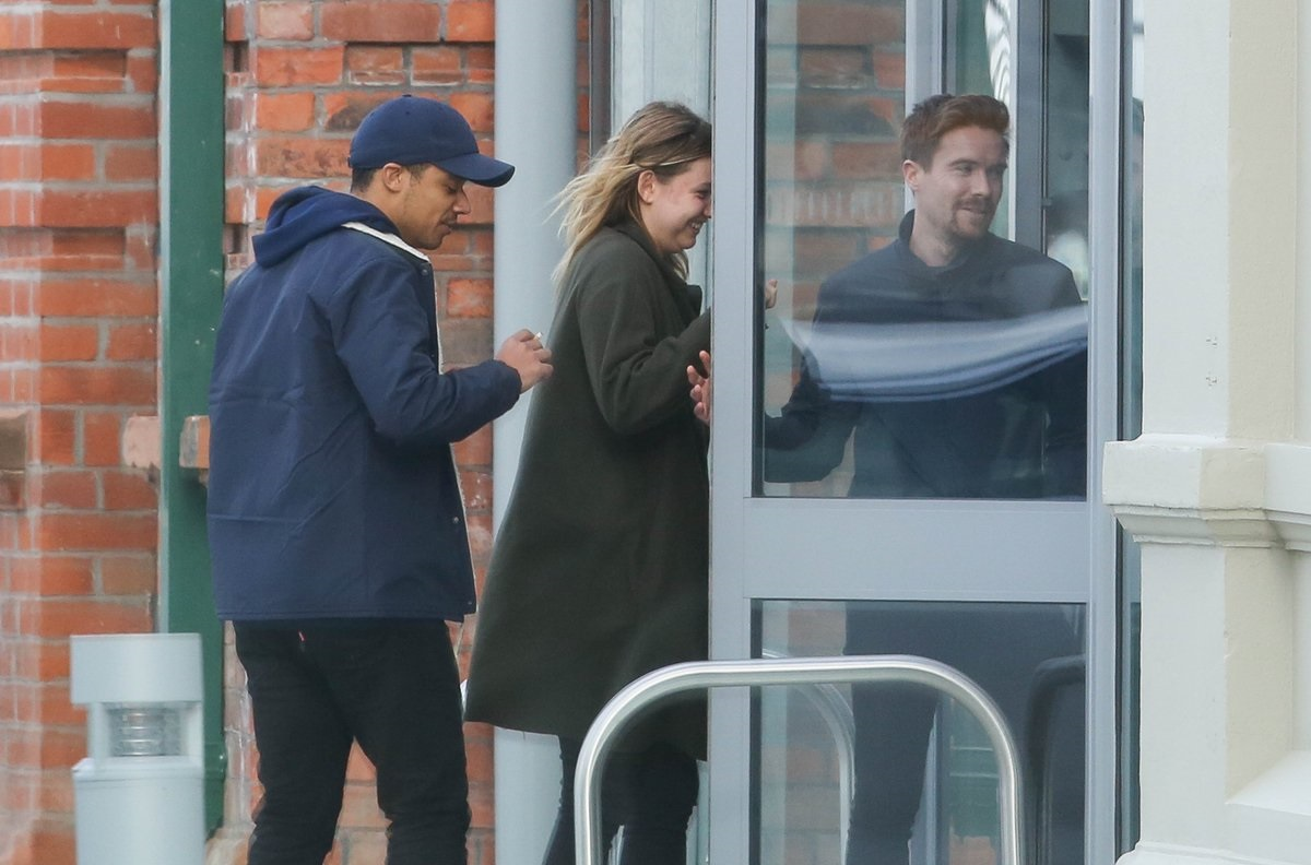 jacon Anderson Hannah Murray Joe Dempsie in Belfast
