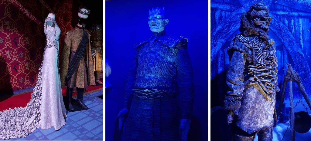 Margaery's wedding dress was even more beautiful in real life. And the Night King's scary!