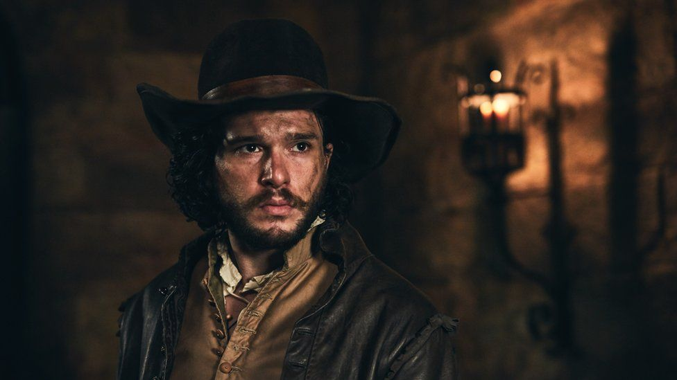 Harington as Robert Catesby, his real-life ancestor, in BBC's 'Gunpowder.'