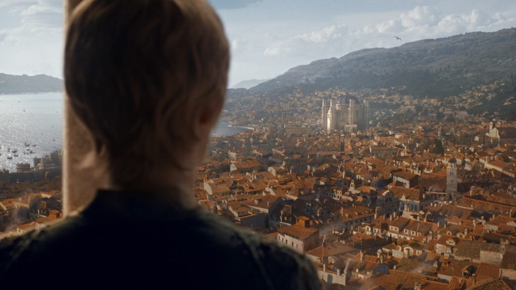 "Cersei overlooks King's Landing in ""The Winds of Winter"", season six"