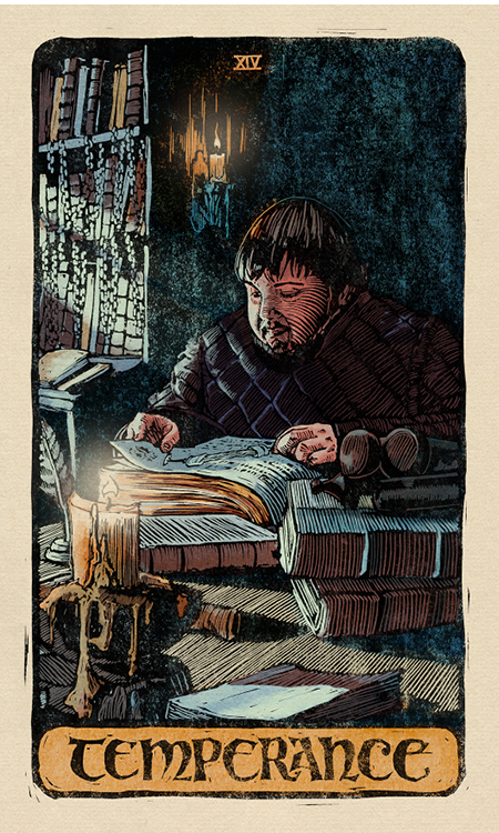 Samwell Tarly is the perfect Temperance card in the 'Game of Thrones' tarot deck.
