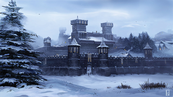 Winterfell by Lino Drieghe