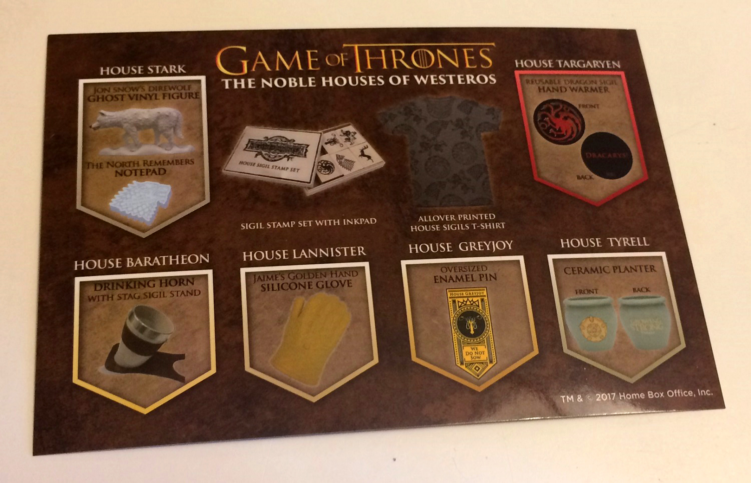 CultureFly Game of Thrones Subscription Box card