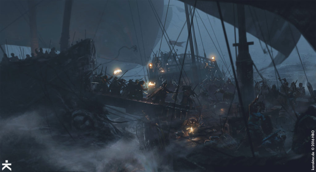 Karakter Concept Art Sea Battle