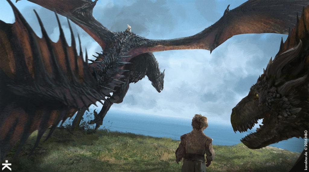 Karakter Concept Art Dragonstone Drogon Daenerys Tyrion 2