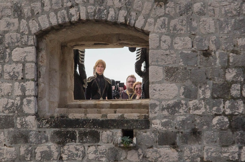 Lena Headey as Cersei at Bokar Fortress. / Photo: Vedran Jerinić