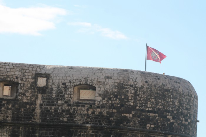The Lannister flag flies over King's Landing. Photo: Ivana Smilović / Dubrovnik Times