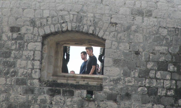 Benioff and Weiss together on set. Photo: Ivana Smilović / Dubrovnik Times