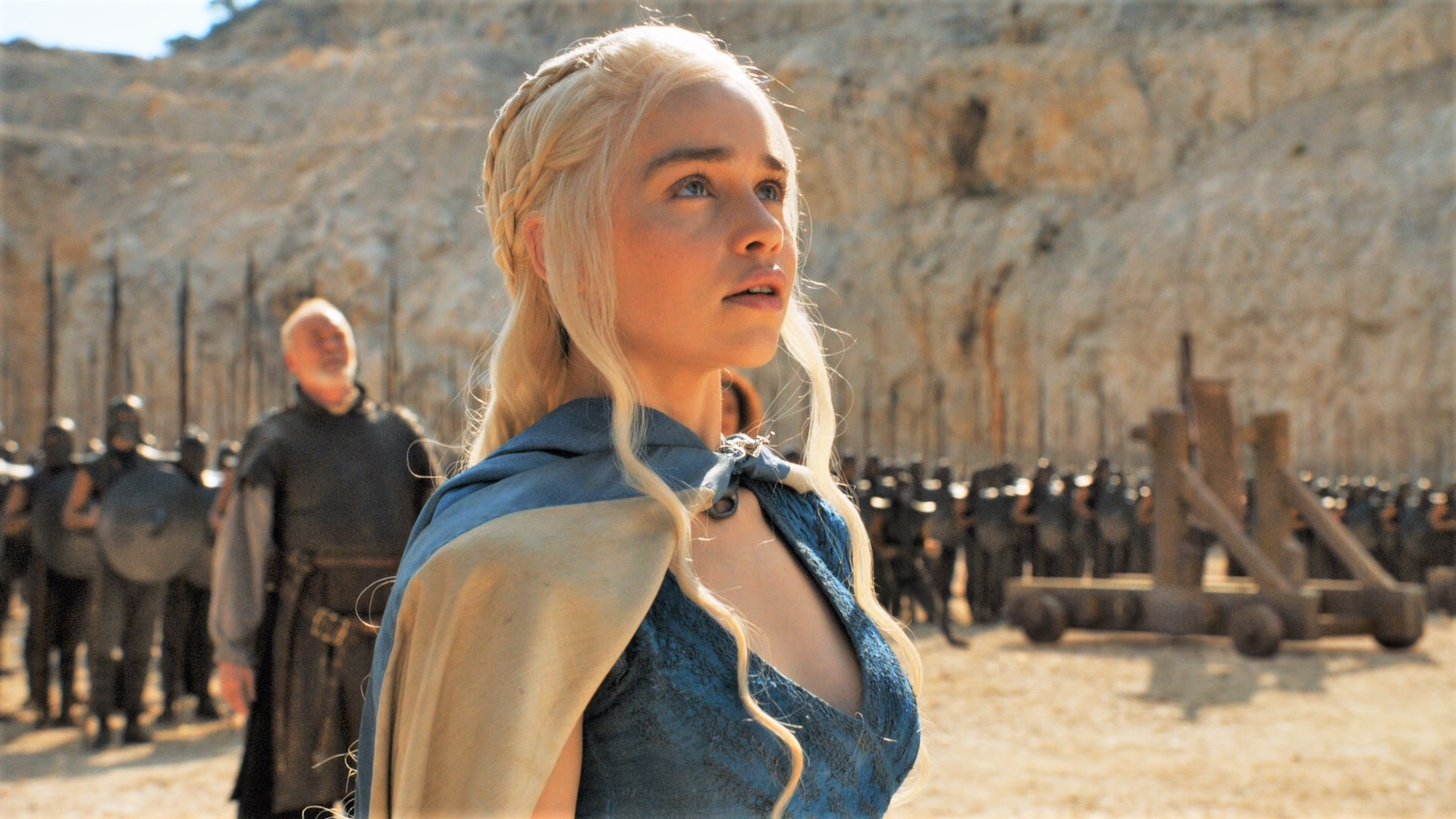 "Daenerys' Unsullied last used siege engines in season four's ""Breaker of Chains"""