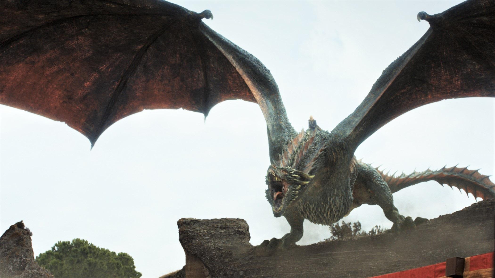 King's Landing Dragonpit 7x07 (2) Drogon Dragon Daenerys