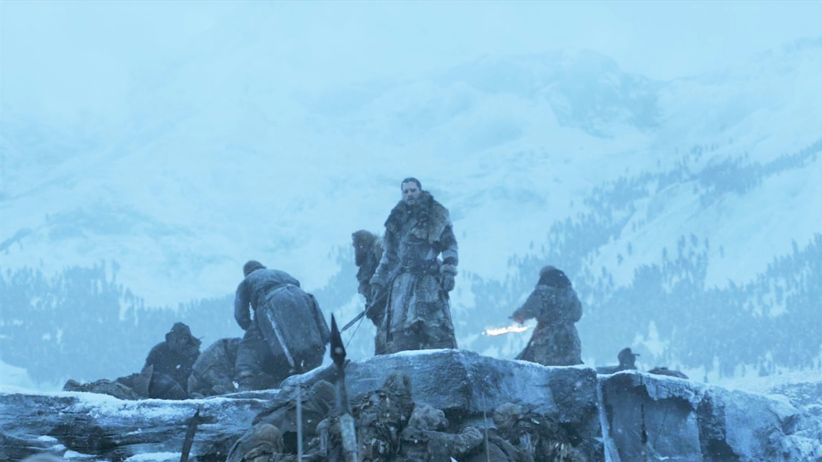 Wall - Beyond Frozen Lake 7x06 (13) Jon Beric Tormund Sandor White Walkers Wights