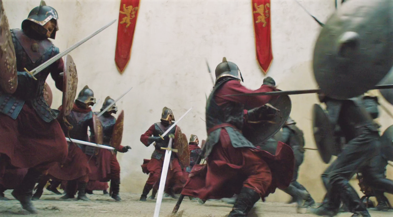 As of yet, Lannister soldiers and Unsullied have only fought at Casterly Rock—but that may change in Season 8!