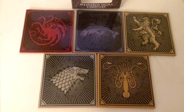 House sigil coasters