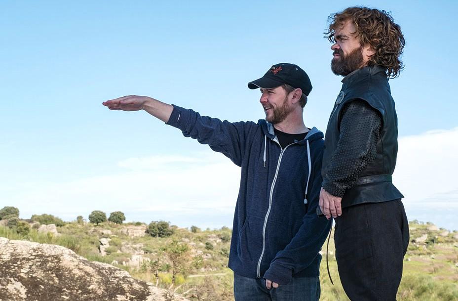 Matt Shakman directing Peter Dinklage. Photo: HBO (via THR)
