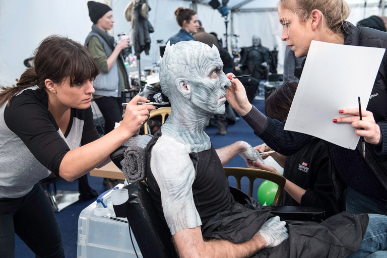 Vladimir Furdik as the Night King Behind the Scenes