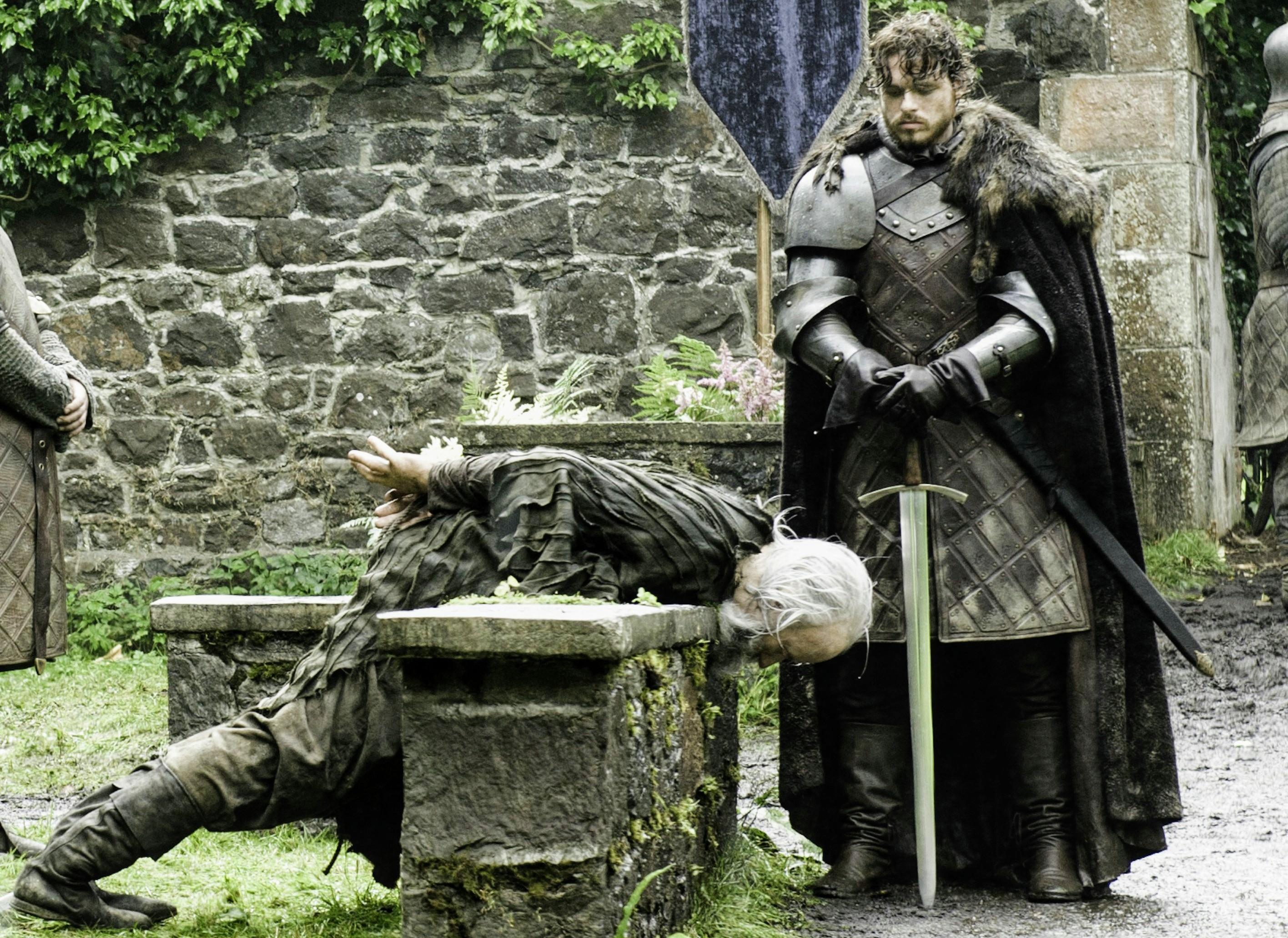 Robb Stark Execution of Karstark Season 3