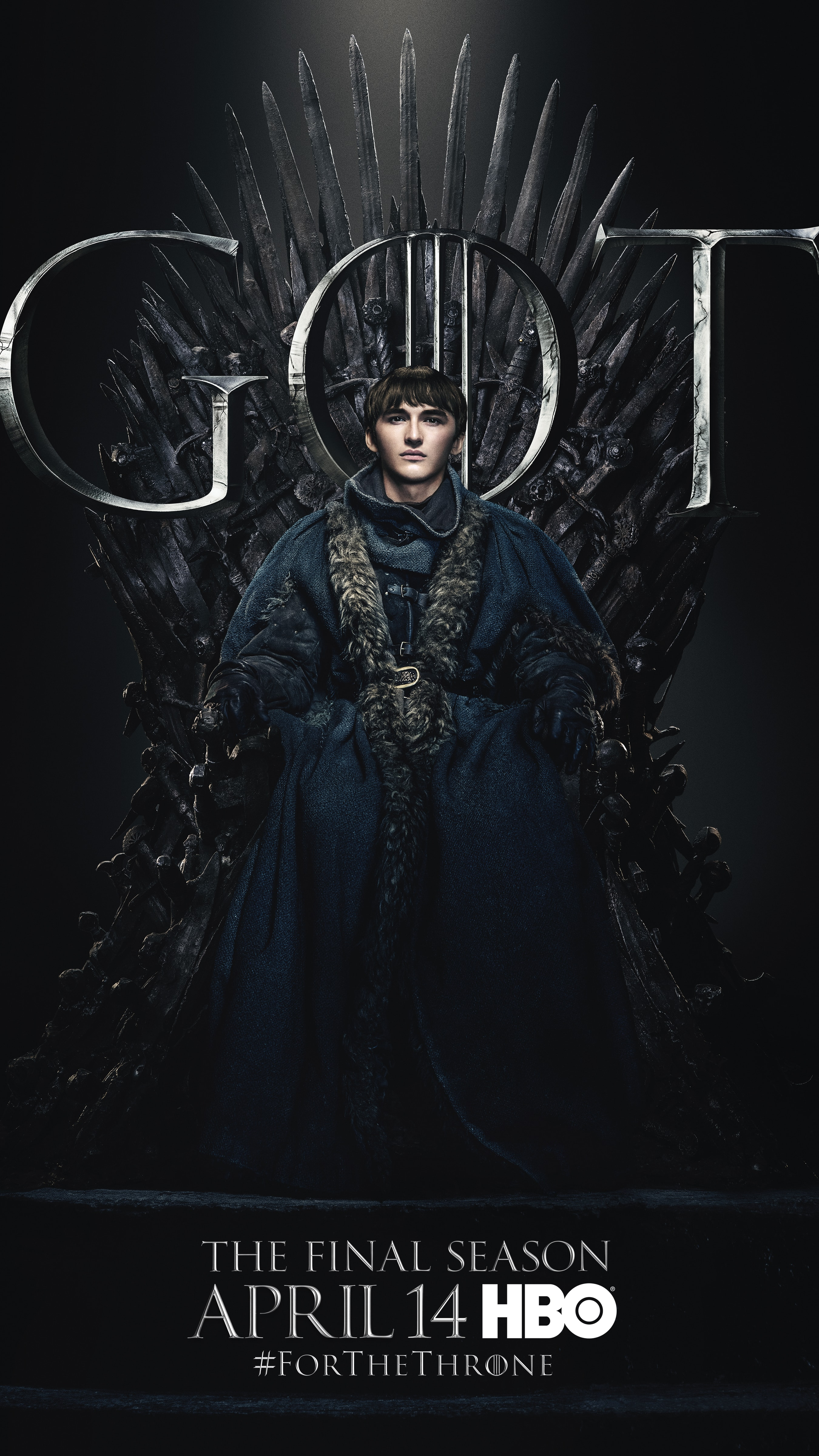 8. Bran Stark GOT Season 8 For The Throne Character Poster-min